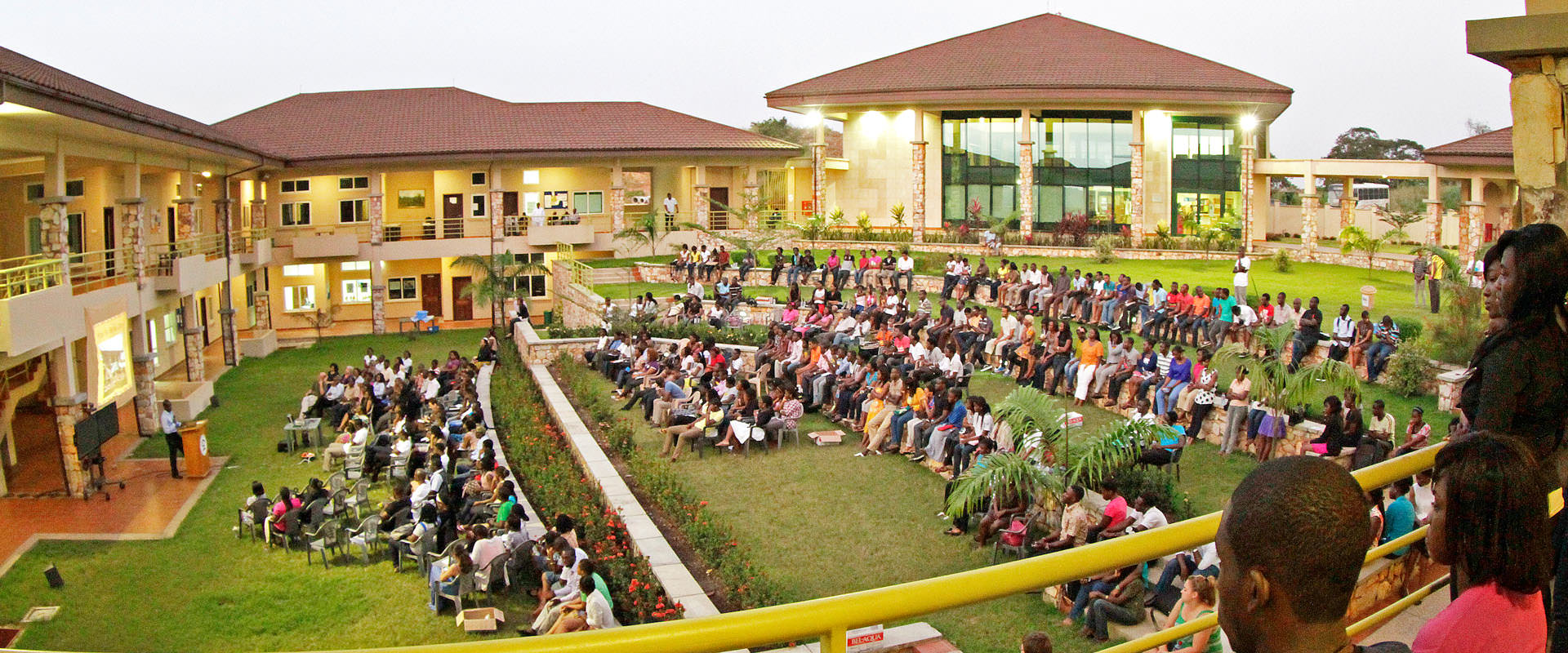 An amphitheatre for gatherings and events